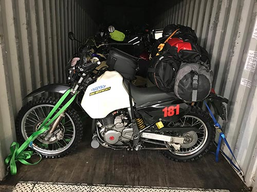 USA motorcycle transport without packaging
